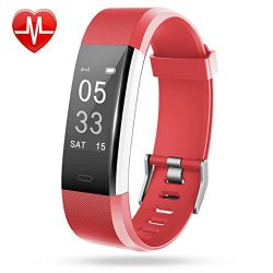 Lintelek Fitness Tracker, Heart Rate Monitor Activity Tracker with Connected GPS Tracker, Step C ...