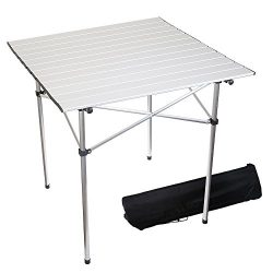 Forbidden Road Aluminum Folding Camping Table Lightweight Portable Picnic Table with Carry Bag S ...
