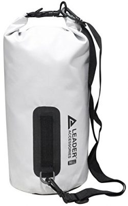 Leader Accessories New Heavy Duty Vinyl Waterproof 20L White Dry Bag for Boating Kayaking Fishin ...