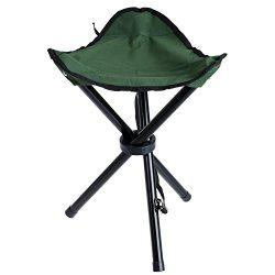vanpower Tripod Stool, Portable Stool Foldable Three-legged Stool for Camping Fishing Hiking Out ...