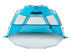 Pacific Breeze Easy Setup Beach Tent Deluxe XL (XL with Extendable Floor)