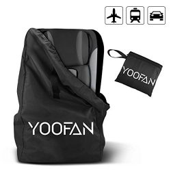 YOOFAN Childress Car Seat Travel Bag,Airport Gate Check Bag with Backpack Shoulder Straps for S ...