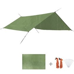 TRIWONDER Multifunction Waterproof Hammock Rain Fly Tent Tarp Footprint Camping Shelter Sunshade ...
