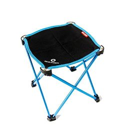 TRIWONDER Portable Camping Stool, Outdoor Folding Chair Slacker Chair for Camping Backpacking Hi ...