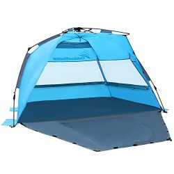 OutdoorMaster Pop Up Beach Tent – Easy to Set Up, Portable Beach Shade with SPF 50+ UV Pro ...