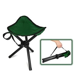 Forbidden Road Camping Stool Seat Tripod Stool Portable Folding Hiking Fishing Travel Backpackin ...