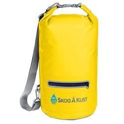 Såk Gear DrySak Waterproof Dry Bag with Exterior Zip Pocket, Shoulder strap and Reflective Trim, ...