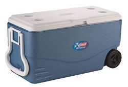 Coleman Xtreme 5 – 100 Quart Wheeled Cooler, Blue, Holds 160 Cans