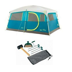 Coleman 8-Person Tenaya Lake Fast Pitch Cabin Tent with Closet with Tent Kit