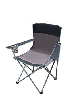 CORAL CASTLE Folding Camping Chair (Grey/Black)