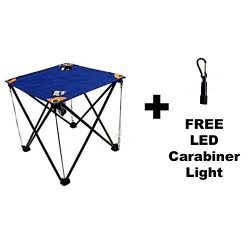 Folding Camping Table with Drink Holders and Carry Bag