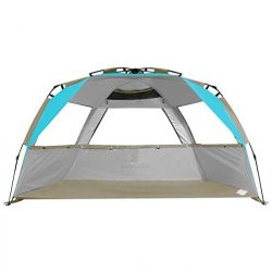 G4Free Easy Set up Beach Tent Pop up Sun Shelter Large Family Beach Shade UV Protection for Baby ...