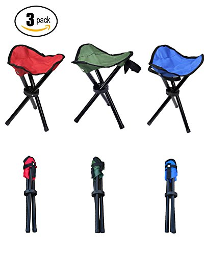 Pack Of 1 Amp 3 Folding Stool Chair Foldable Fishing Chairs