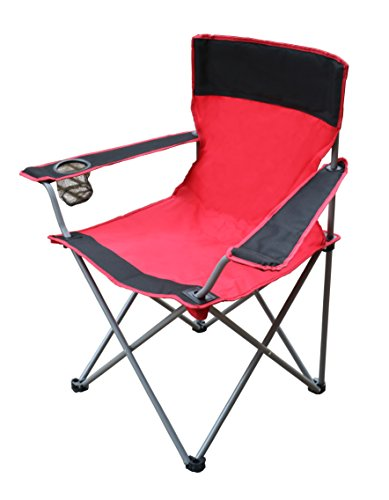 CORAL CASTLE Folding Camping Chair (Red/Black)