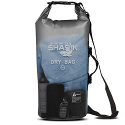 Premium Waterproof Dry Bag by SandShark- Transparent 10 & 20 Liter Floating Sack for Boating ...
