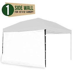 Punchau Canopy Side Wall – White Sidewall for 10×10 Feet Pop Up Canopy Tent