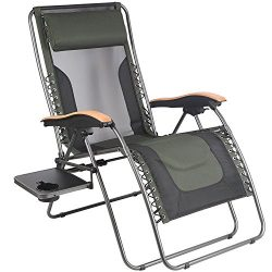 PORTAL Oversize Zero Gravity Recliner Chairs with Pillow and Cup Holder, Patio Lounger Chairs, S ...