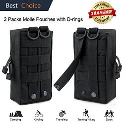 Molle Pouch Attachments Tactical Backpack Accessories Water Bottle Holder Bag Multipurpose Tools ...