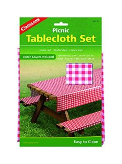 Coghlan's Picnic Table Set with Tablecloth and Bench Covers