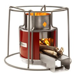 Affirm Global Wood Burning EZY Stove, Red