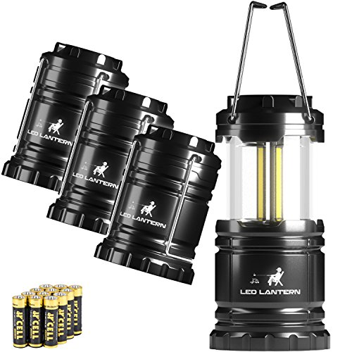 MalloMe LED Camping Lantern Flashlights 4 Pack – SUPER BRIGHT – 350 Lumen Portable O ...