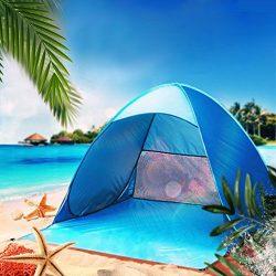 Beach Tent,Boofab 2-3 Persons Instant Beach Tents Waterproof Anti-UV Sun Shelter Cabana Beach Sh ...
