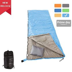 RUBEDER Sleeping Bag – Lightweight Portable, Waterproof, Comfort With Compression Sack  ...