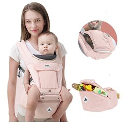 360 Ergonomic Baby Carrier Adjustable Backpack with Hip Seat, 12 Positions All Seasons Summer, B ...