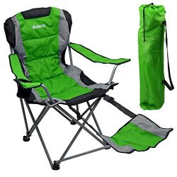 Outdoor Quad Camping Chair – Lightweight, Portable Folding Design – Adjustable Footr ...