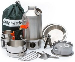 Camp Stove – Kelly Kettle: Ultimate Stainless Steel Scout Kit – Medium – Holds ...