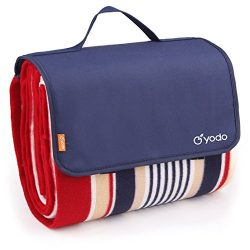 yodo Extra Large Outdoor Waterproof Picnic Blanket Tote 79″ x 79″Light Weight with S ...
