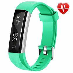 Lintelek Fitness Tracker, Slim Activity Tracker with Heart Rate Monitor, IP67 Waterproof Wristba ...