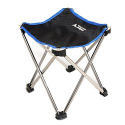 CieKen Portable Folding Stool, Outdoor Folding Chair, Ultralight Compact Camp Footrest Stool, Ou ...