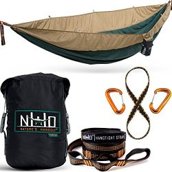 Double Camping Hammock – Portable Two Person Parachute Hammock for Outdoor Hanging. Heavy  ...