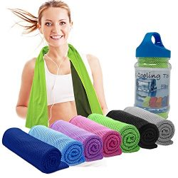 Cooling Towels for Neck Cooler- Stay Cool Neck Wrap, Evaporative Cooler for Hot Weather, Rags/Sc ...
