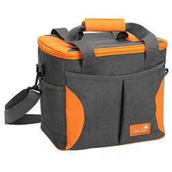 SERISIMPLE Sliver Lake Collapsible Insulated Soft Lunch Cooler Bag Outdoor Insulated Picnic Bag  ...