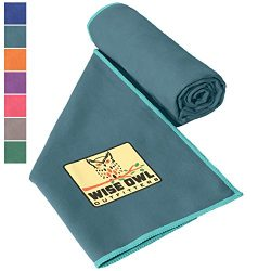 Wise Owl Outfitters Camping Towel by Ultra Soft Compact Quick Dry Microfiber – Great for F ...