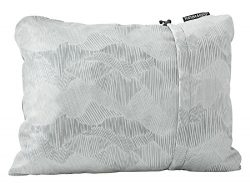 Therm-a-Rest Compressible Travel Pillow for Camping, Backpacking, Airplanes and Road Trips, Gray ...