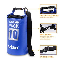 Asiwo Dry bag,Waterproof bags,Roll Top Dry Compression Sack Keeps Gear Dry for kayaking,adventur ...