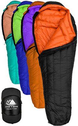 Goose Down Sleeping Bag for Backpacking – Eolus 15 & 30 Degree F 800 Fill Power Ultralight,  ...