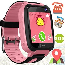 Kids Smart Watch Phone – Kids GPS Tracker Smartwatch for Girls Boys with Mobile Phone SOS  ...