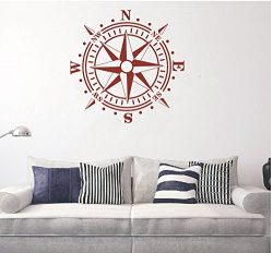 Wall Decal Removable Nautical Compass Kids Boys Room Decor Vinyl Wall Sticker Carving Children B ...
