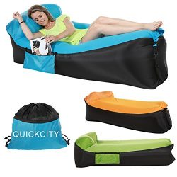 Quickcity Inflatable Lounger NEWEST 3.0 Air Couch Cooler Sofa Air Mattress Camping Chair Portabl ...
