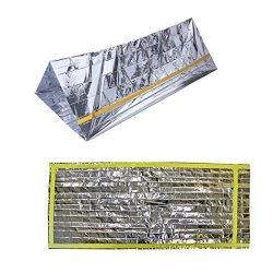 Emergency Shelter Survival Sleeping Bag 2-in-1 Mylar Reflective Bivy 8ft x 5ft Outdoor Emergency ...