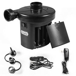 Battery Air Pump, Electric Air Pump Inflate Deflator, Quick-Fill Air Mattress Pump for Inflatabl ...