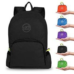 Leoker Ultralight Foldable Backpack Durable Travel Backpack,Small Handy Outdoor Daypack shopping ...