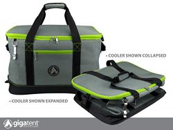 GigaTent Lime Insulated Collapsible Cooler – Soft Lunch Box with Bottle Opener For Camping ...