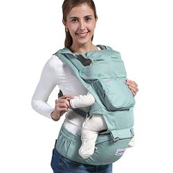 Baby Carrier Backpack with Hip Seat for All Seasons, 12 in 1 Comfortable & Safe Positions fo ...