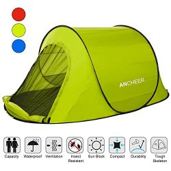 ANCHEER Large Pop Up Backpacking Camping Hiking Tent Automatic Instant Setup Easy Fold back Shel ...