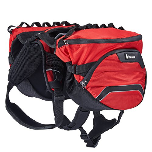 Pettom Dog Saddle Backpack 2 in 1 Saddblebag&Vest Harness with Waterproof for Backpacking, H ...